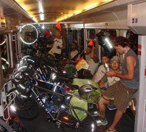 Frank on German train